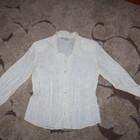 Блузка с атласным рисунком цвет жемчуг 42-46 новая