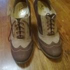 Туфли закрытые ботильоны кожаные нубук ,р 38