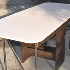 Стол книжка Увеличенный с закруглеными углами и полкой для вещей кромка Пластик 2мм