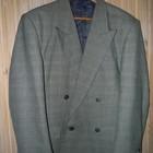 Пиджак серый в клеточку р. 52-54