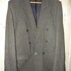Пиджак темно-коричневый твидовый р.50