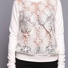 Модный свитер с объемным кружевом р50-52