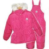 Зимний комбинезон с курткой Монклер для девочек 110-116