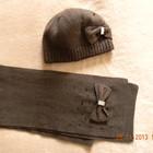 Зимний комплект шапочка шарфик