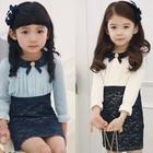 В наличии красивое праздничное платье с длинным рукавом для девочки
