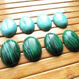 Кабошоны натуральных камней 25х18 мм