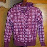 Розовая куртка-ветровка Некст для модницы 7-9 лет 128-140