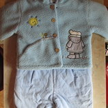 Демисезонный костюм - куртка и комбинезон - Мишка, 74-80 р.