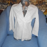 Блузка белая в полоску с блестками размер 44-46