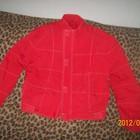 Куртка красного цвета унисекс на возраст 13-15 лет
