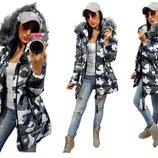 Женская стильная куртка парка