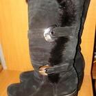 Сапоги зимние, нат.замша, цигейка, 23.5cm