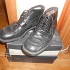 Ботинки черного цвета на шнурках 43 р.