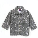 Джинсовая куртка, пиджак L&L на 3-6 лет. Швеция. Цветочный принт.