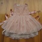 Нарядное платье для девочки кремовая роза