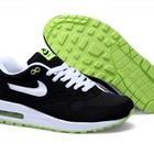 Кроссовки Nike Air Max 87 - черные белые шнурки