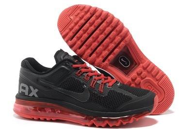 e9c19030 Кроссовки Nike Air Max 2013 - черные с красной подошвой: 1160 грн ...