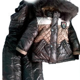 Детский зимний комбинезон для мальчика 80-122 см