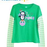 Реглан кофта хлопковый зеленый на 10-12 лет, Walmart Америка