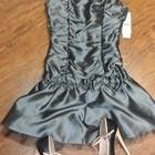 новое атласное платье брендовое р.XS-S-цена упала