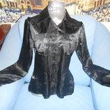 Блузка черная атласная р.44-46