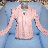 Блузка розового цвета в полоску размер L