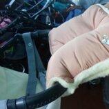 Муфта на коляску для коляски или санки зимняя на натуральной овчине детская