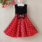 Распродажа Пышное нарядное красное платье в стиле Burburry