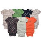 Американская детская одежда Carters Комплект боди 7 шт с коротким рукавом черепашка, puppy0000102