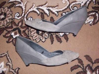 рр 39-25,5 см эксклюзивные туфли на танкетке от ZARA BASIC кожа
