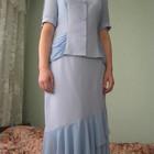 костюм летний двойка юбка и блуза