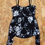 майка, размер S, в цветы, кофточка футболка кофта, блуза блузка туника