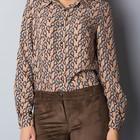 Акция Блуза - рубашка в принт птички. Два цвета. Новая коллекция по старому курсу.