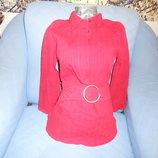 Туника-блузка красного цвета ткань жатая размер наш 44-46