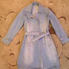 Палащ джинсовый новое 44-48 Пальто