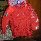 Супергерои Осенняя теплая куртка-ветровка на мальчика 110-122 см