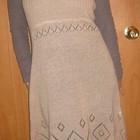 Красивое вязаное ажурное платье