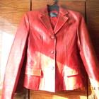 Демисезонный кожаный жакет куртка