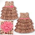 Платье для девочки Нярядное, модное, тигровое