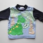 футболка с длинным рукавом Ladybird. на 0-3мес. с динозавром