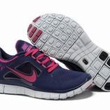 Женские кроссовки Nike Free Run 5.0 - сине-розовые