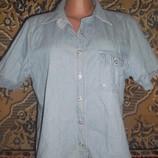 Рубашка джинсовая большой размер 48-52 ОГ-123 см
