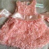 Платье для девочки Красное, Белое, нежно Розовое код С-021