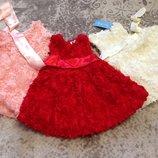 Платье для девочки Пушистая Роза