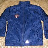 Двухсторнняя красная и синяя осенняя куртка-дождевик р.128-140