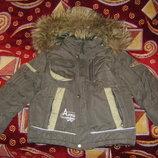 Зимняя с подстежкой и весенняя куртка на мальчика 98-116 см