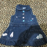 Платье джинсовое F&F р.68 на 3-6 мес. 8,5 кг.