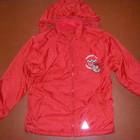 Зимняя красная, синяя и красная двухсторонние осенние куртки-ветровки-дождевики р. 134
