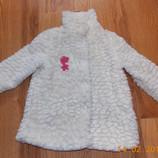 Гламурная шубка F&F для девочки 3-4 года, 104 см