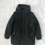 Пальто - куртка стильное шерстяное Next. 7-8 лет. Тёплое пальто, парка, куртка, пуховик